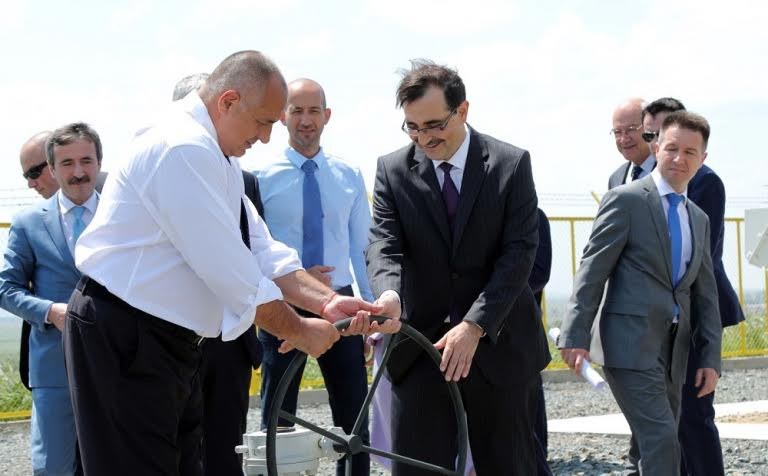 Bulgarian PM Borissov opens looping section on gas link to Turkey