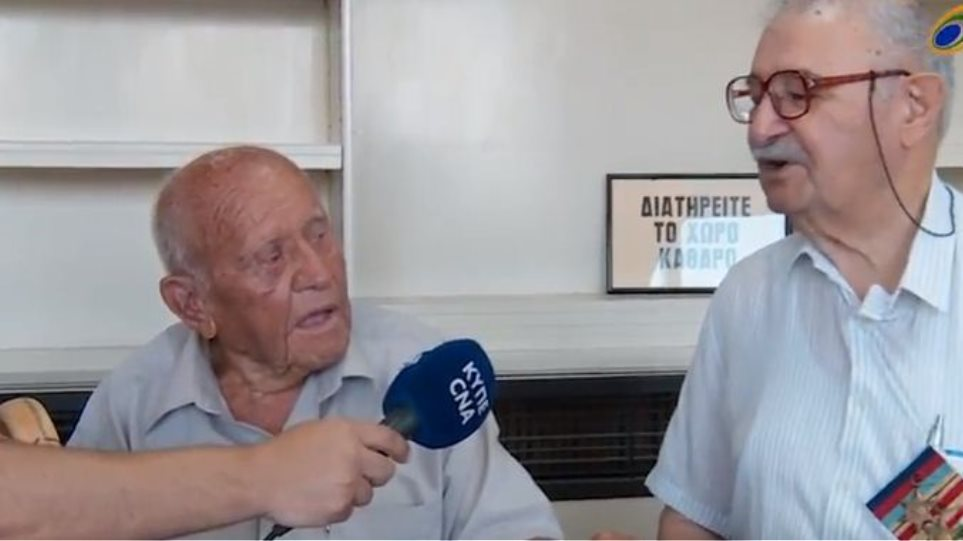 A Greek Cypriot and a Turkish Cypriot, WW II veterans, meet for the first time since they fought together