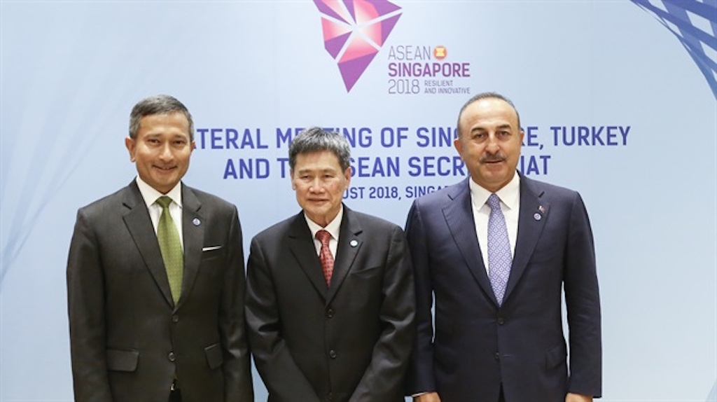 First-ever Turkey-ASEAN trilateral meeting held in Singapore on Wednesday