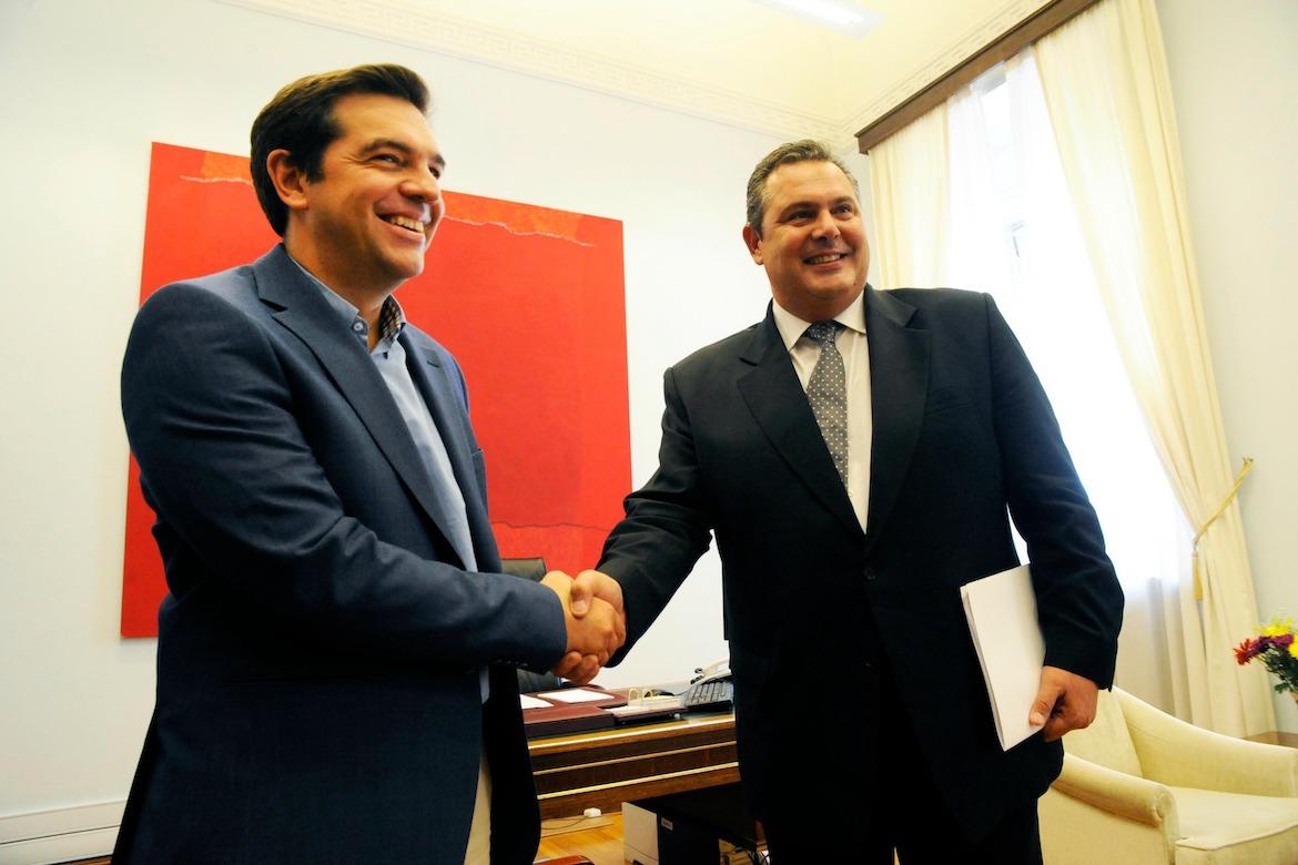Tsipras says coalition may break up over fYROMacedonia deal
