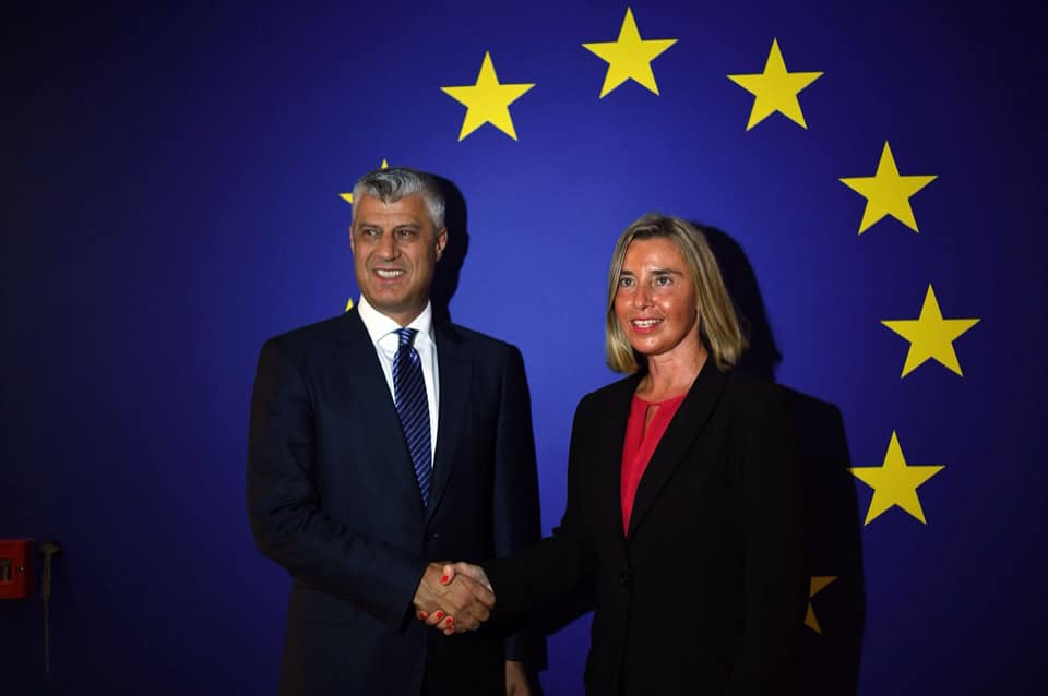 President Thaci meets the head of the EU diplomacy in New York