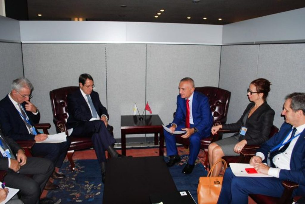 Albanian president Meta meets his Cypriot counterpart