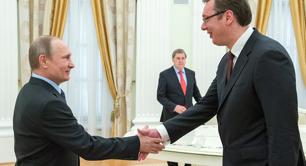 Vucic has said he is 'honoured' to meet Putin for the 13th time
