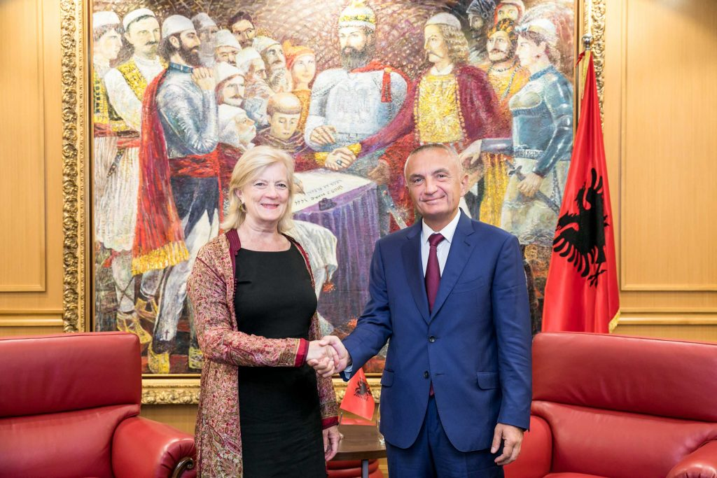 Albanian president receives US State Department official Elisabeth Millard