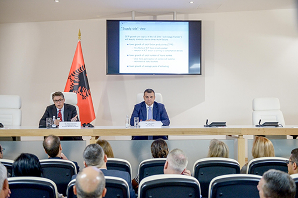 Productivity in the Albanian economy has slowed down, says head of the Central Bank Sejko