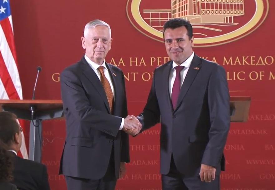 Пλήρη στήριξη στη Συμφωνία των Πρεσπών και στο επικείμενο δημοψήφισμα στην πΓΔΜ από τον υπουργό Άμυνας των ΗΠΑ James Mattis