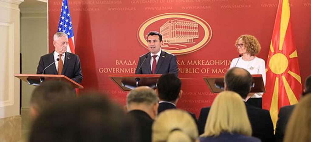 US Defence Secretary Mattis addresses messages of optimism in Skopje