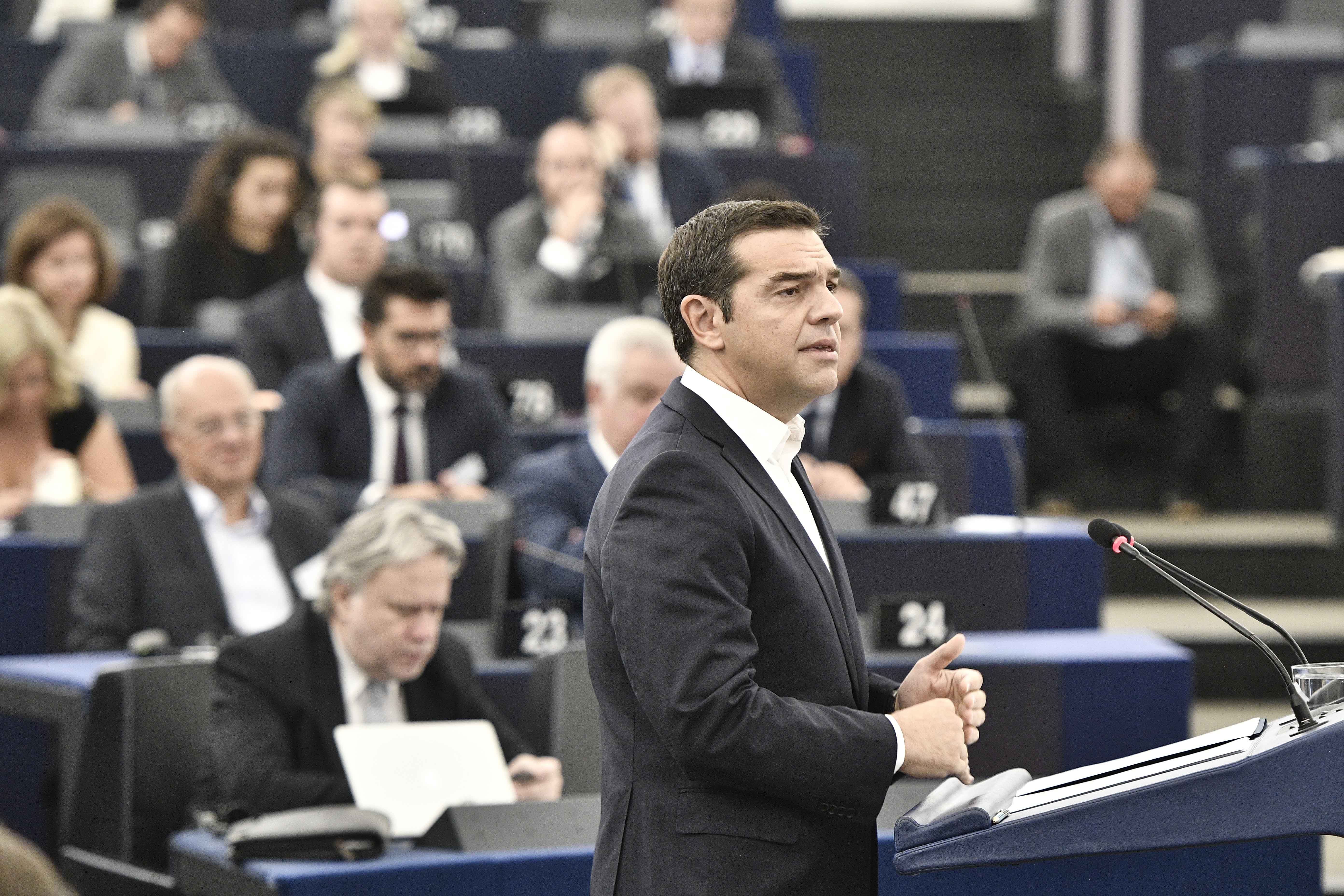 Alexis Tsipras has series of contacts in Strasbourg