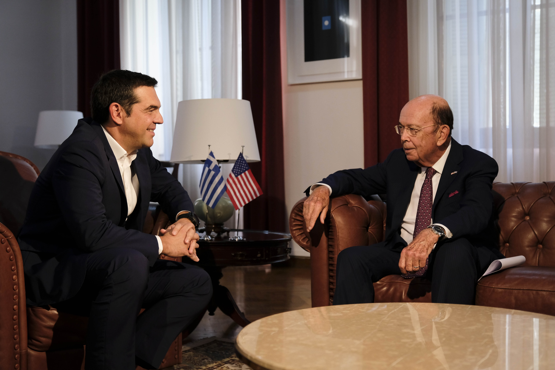Την ενίσχυση των ελληνοαμερικανικών σχέσεων συζήτησαν Τσίπρας Ross