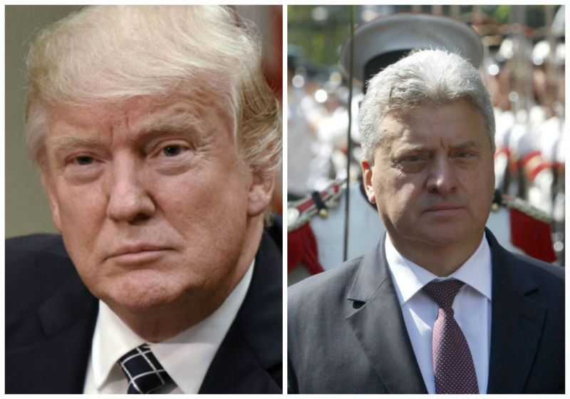 Trump to Ivanov: The historic Prespa Agreement resolves the long-standing name issue with Greece