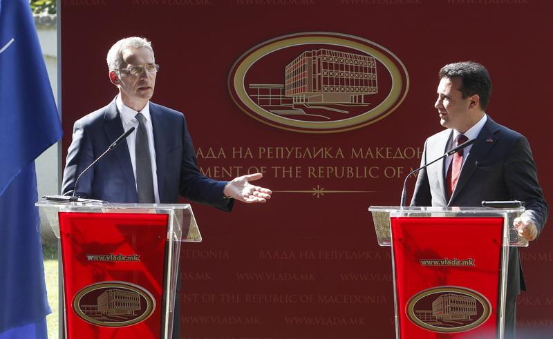 Jens Stoltenberg: Η πΓΔΜ μπορεί να ενταχθεί στο ΝΑΤΟ μόνο με την αποδοχή της συμφωνίας με την Ελλάδα