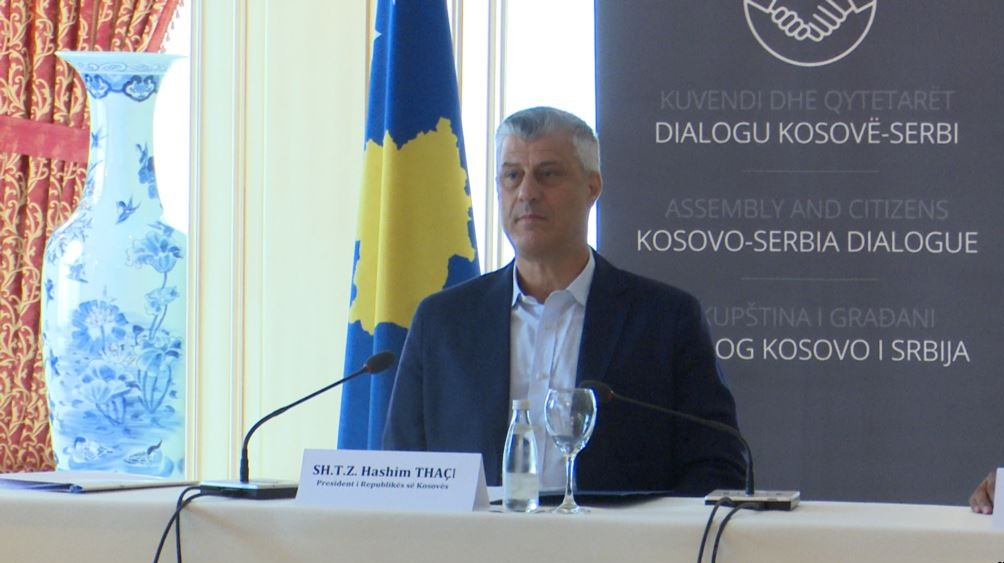 I will not accept a Srpska Republika in Kosovo, says president Thaci