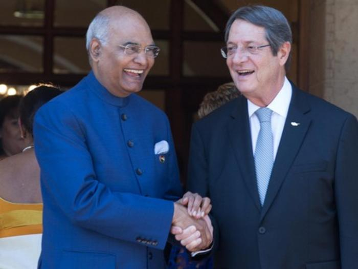President Anastasiadesmet with the President of India