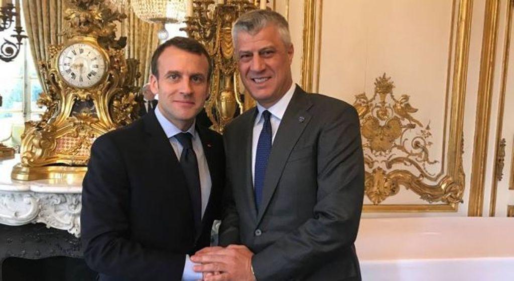 Trump, Merkel and Putin in Paris, Macron invites Thaci too