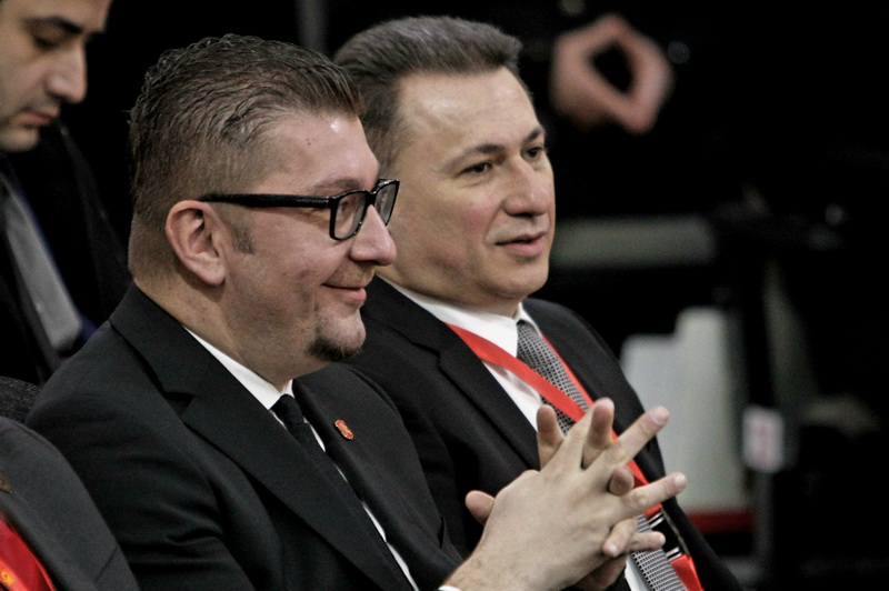 Mickoski and Gruevski on their own