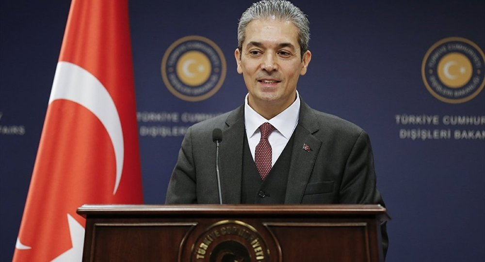 Announcement by the spokesman of the Foreign Affairs ministry, Hami Aksoy