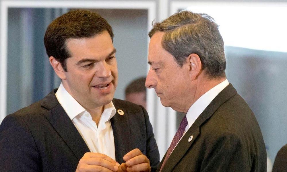 Tsipras, Draghiand the reason behind their meeting