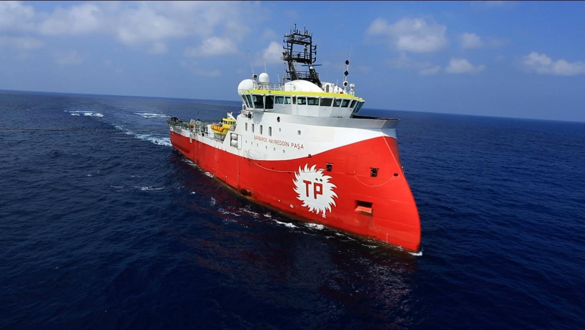 Turkish media speak of Greek frigate that 'harassed' their research vessel