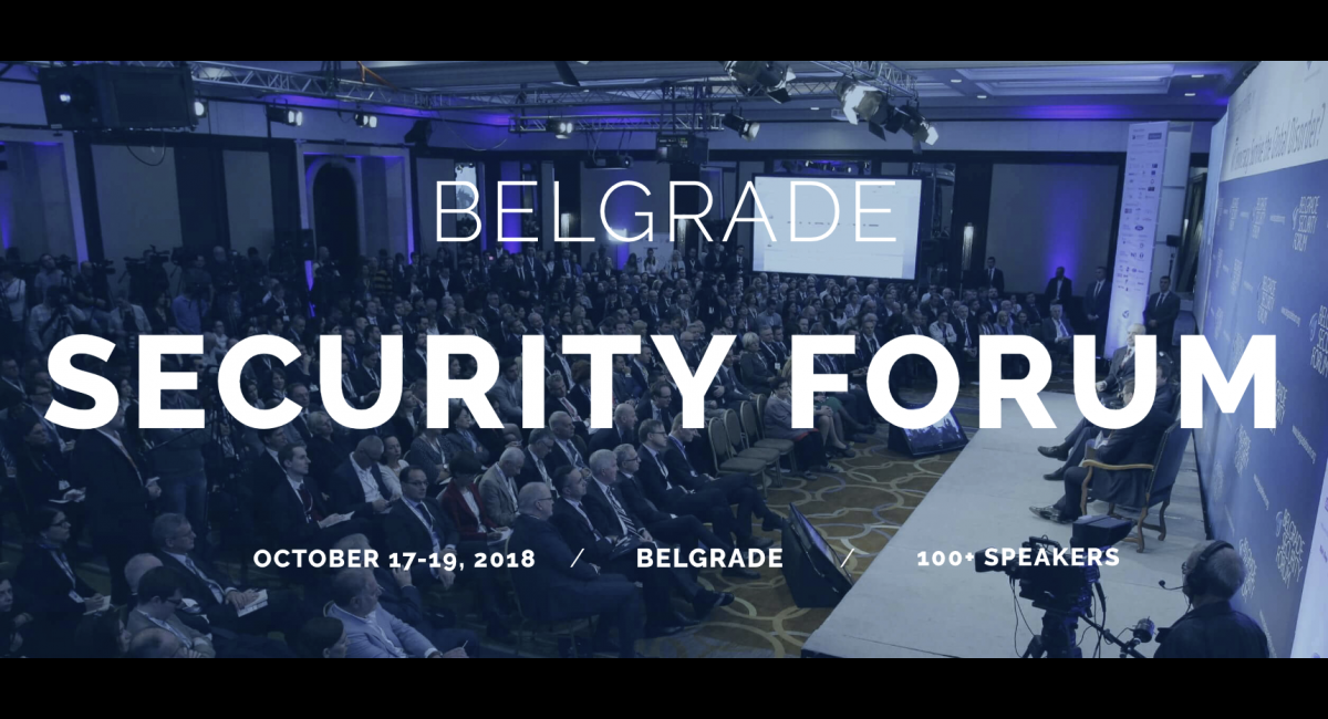 Belgrade Security Forum 17-19 October 2018