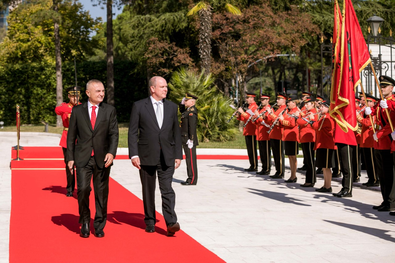 Prince of Monaco, Albert II holds a state visit to Tirana