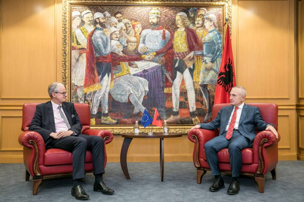 Albanian president Meta receives the Director-General for European Neighbourhood Policy and Enlargement Negotiations, Christian Dannielson