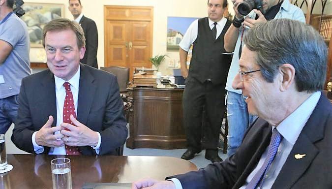 Anastasiades meets Exxon Mobil's Chapman