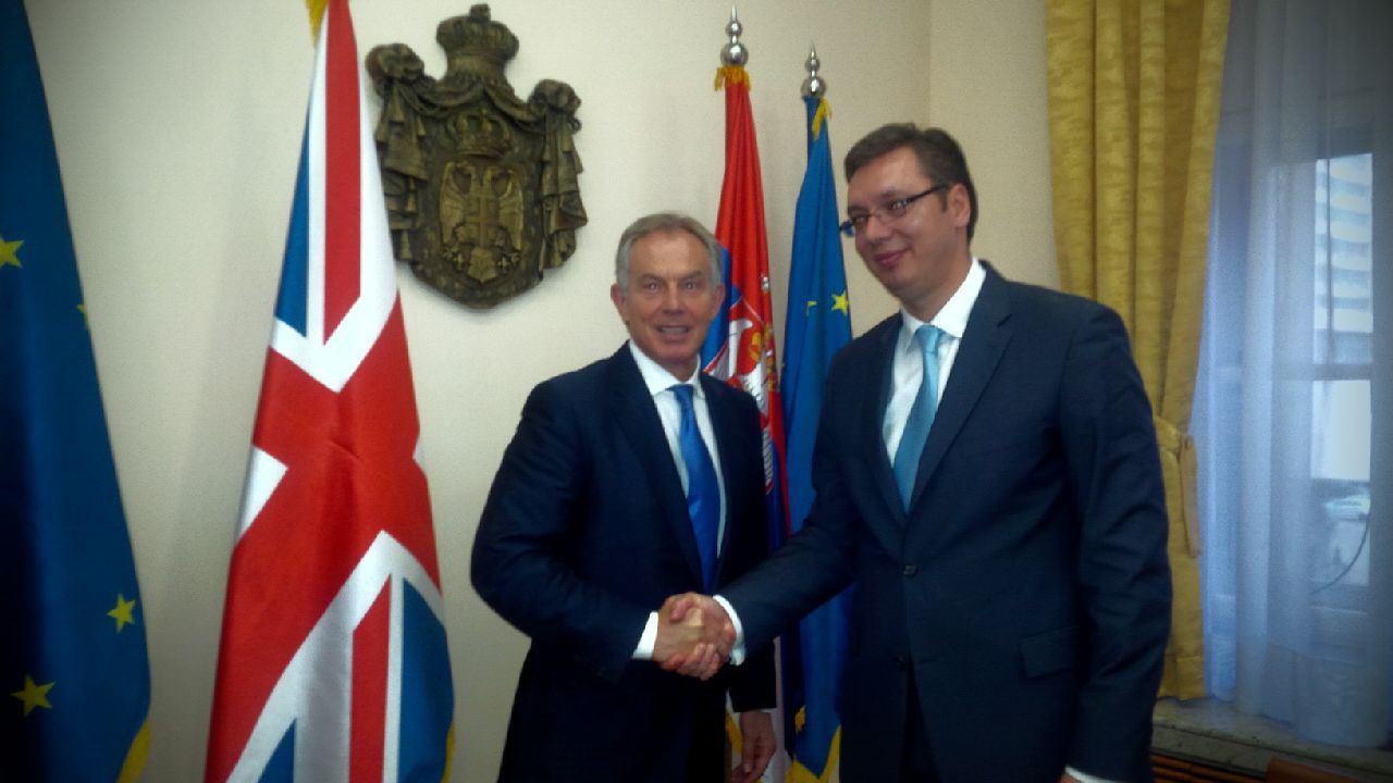Jeremic insists Tony Blair has arole in the Belgrade-Pristina talks