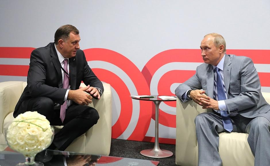 BiH-Russia: Dodik meets Putin in Sochi a week before the general polls in BiH