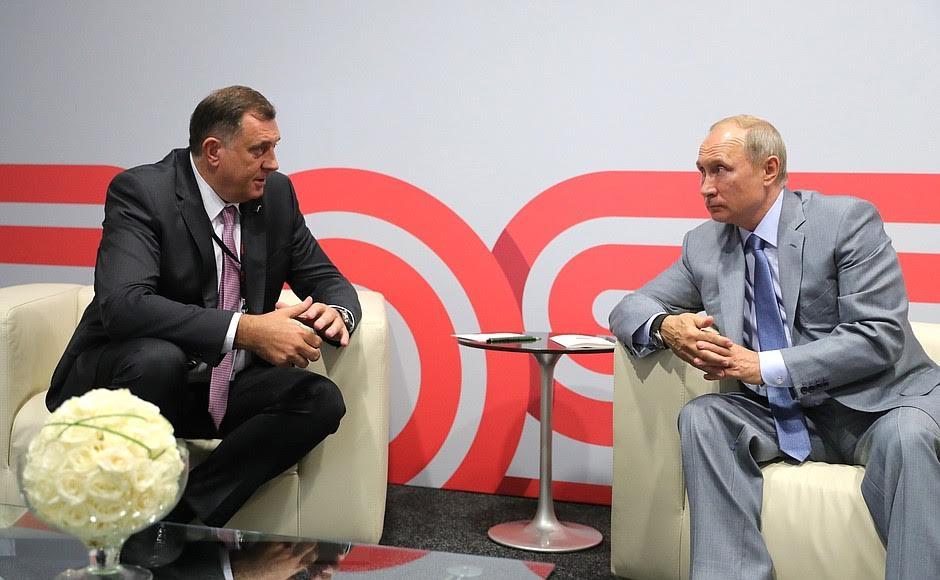 Βοσνία – Ρωσία: Συνάντηση Ντόντικ – Πούτιν στο Σότσι μία εβδομάδα πριν από τις εκλογές στην Βοσνία