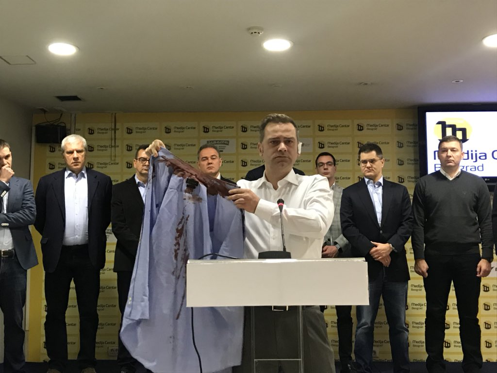 """Vucic """"responsible"""" for an assault against opposition leader"""