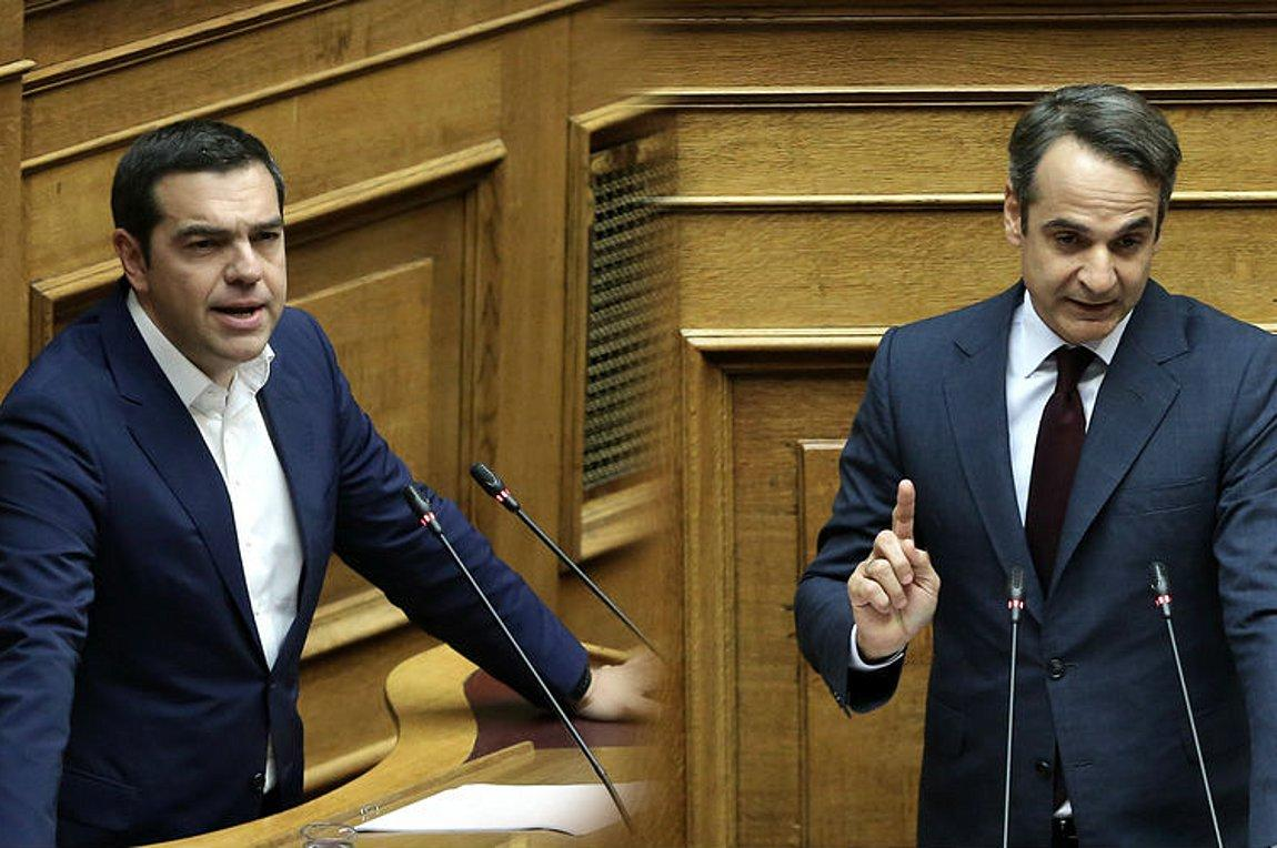 """Tsipras – Mitsotakis """"cross swords"""" in Parliament for the public universities"""