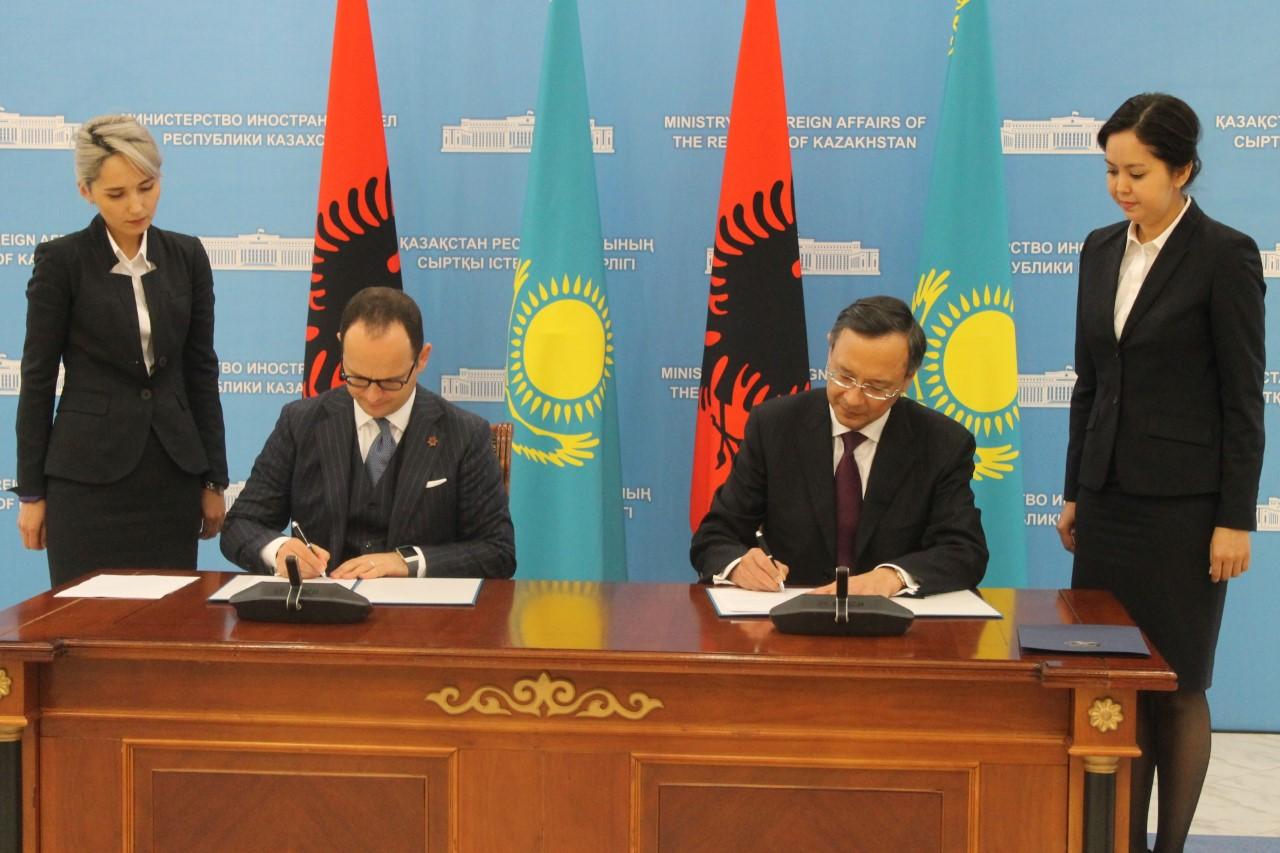 Albanian Foreign Minister visits Kazakhstan