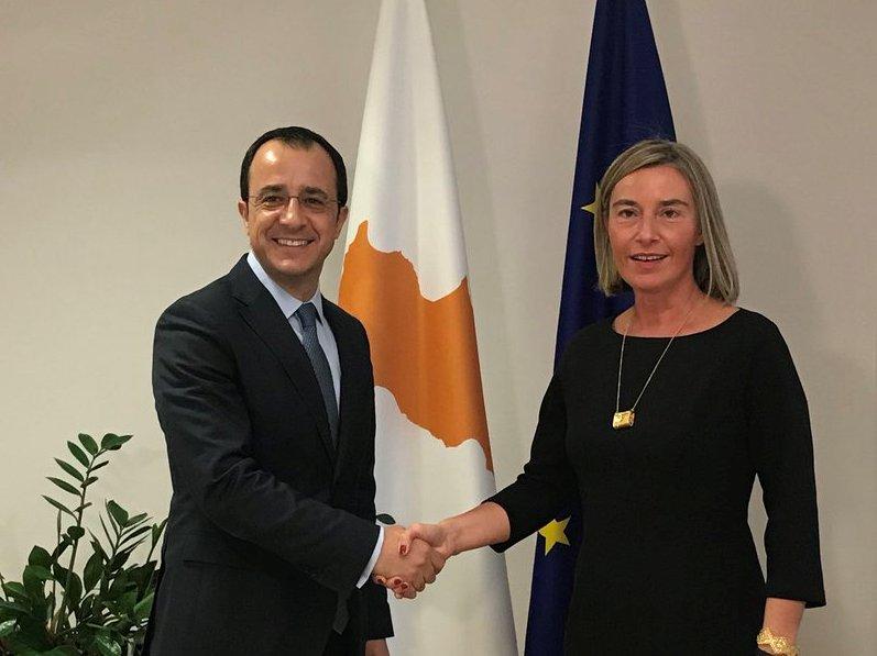 Συνάντηση Χριστοδουλίδη Mogherini στις Βρυξέλλες