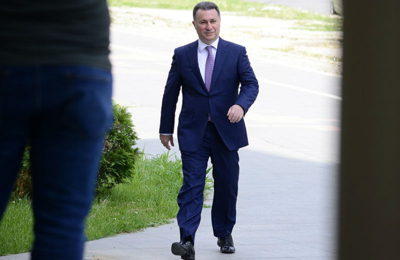 The escape route of the wanted Gruevski