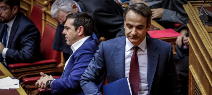 Tsipras, Mitsotakis clash in parliament over constitutional review