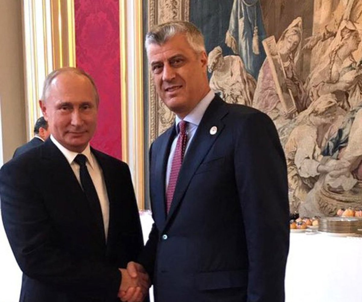Meeting between Thaci and Putin sparks reactions in Pristina