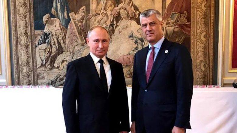 Kosovo's president Thaci meets the Russian president