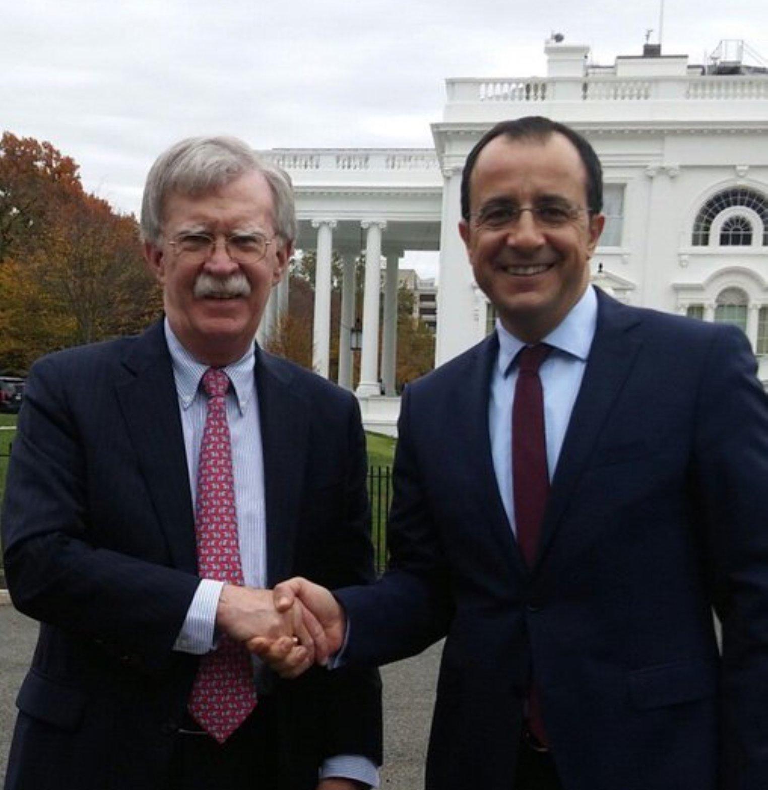 Christodoulides, Bolton meeting in Washington