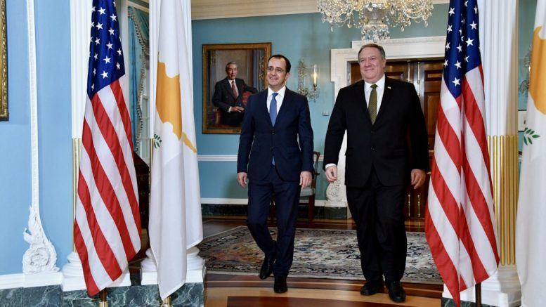Christodoulides, Pompeo agree strengthening of Cyprus-US relations