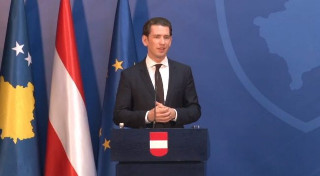 Kurz: Austria will support any agreement reached between Kosovo and Serbia