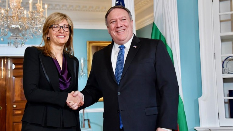 Pompeo meets Zaharieva, discussing stability, security, energy