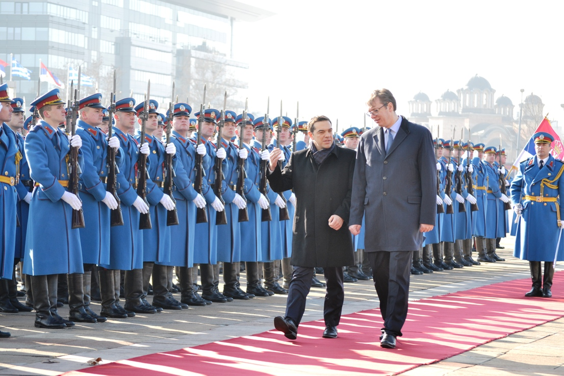 Alexis Tsipras on an official visit in Belgrade, 21-22 December