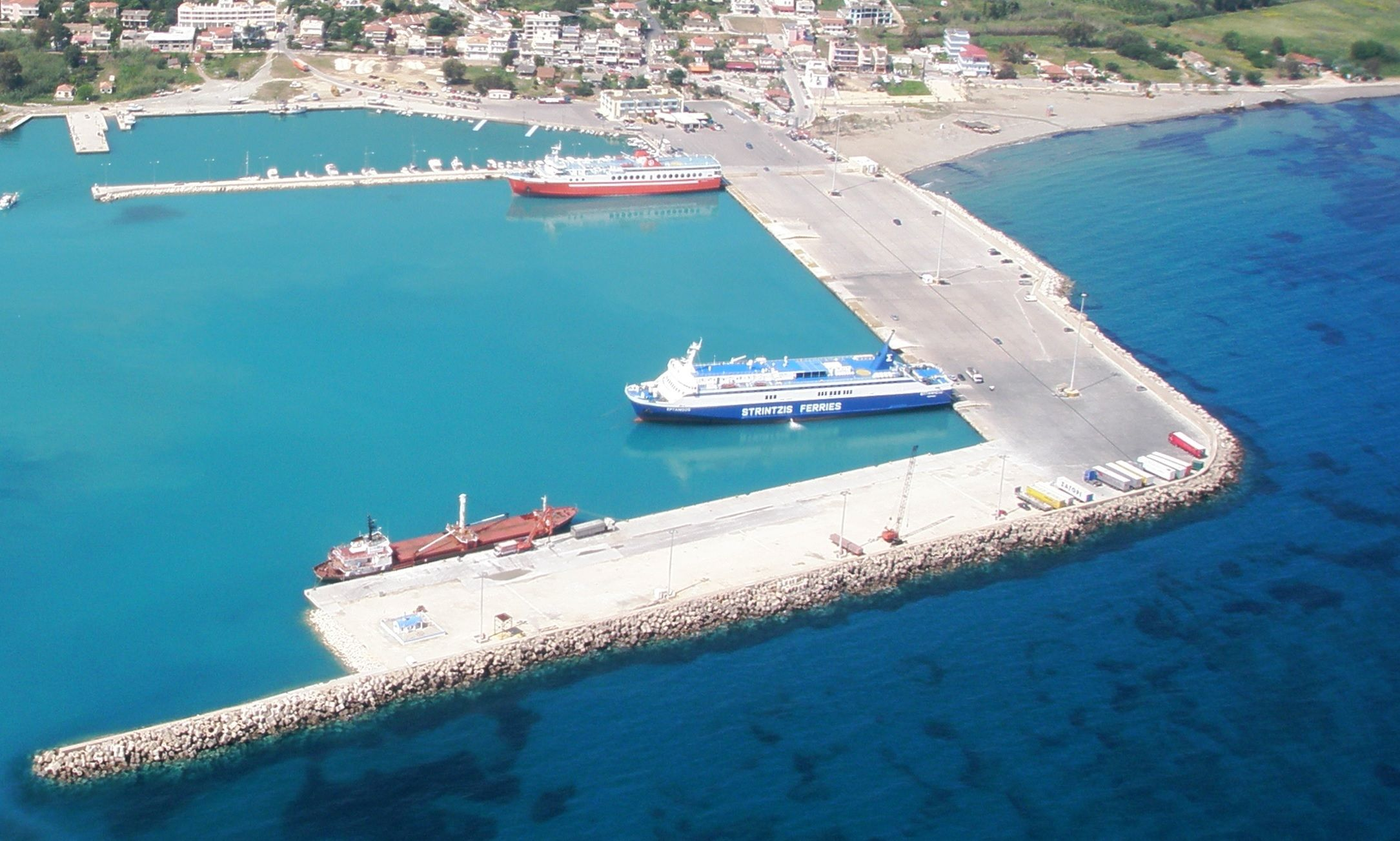 In Killini the first land-based electrical power supply infrastructure for ships in the Eastern Mediterranean