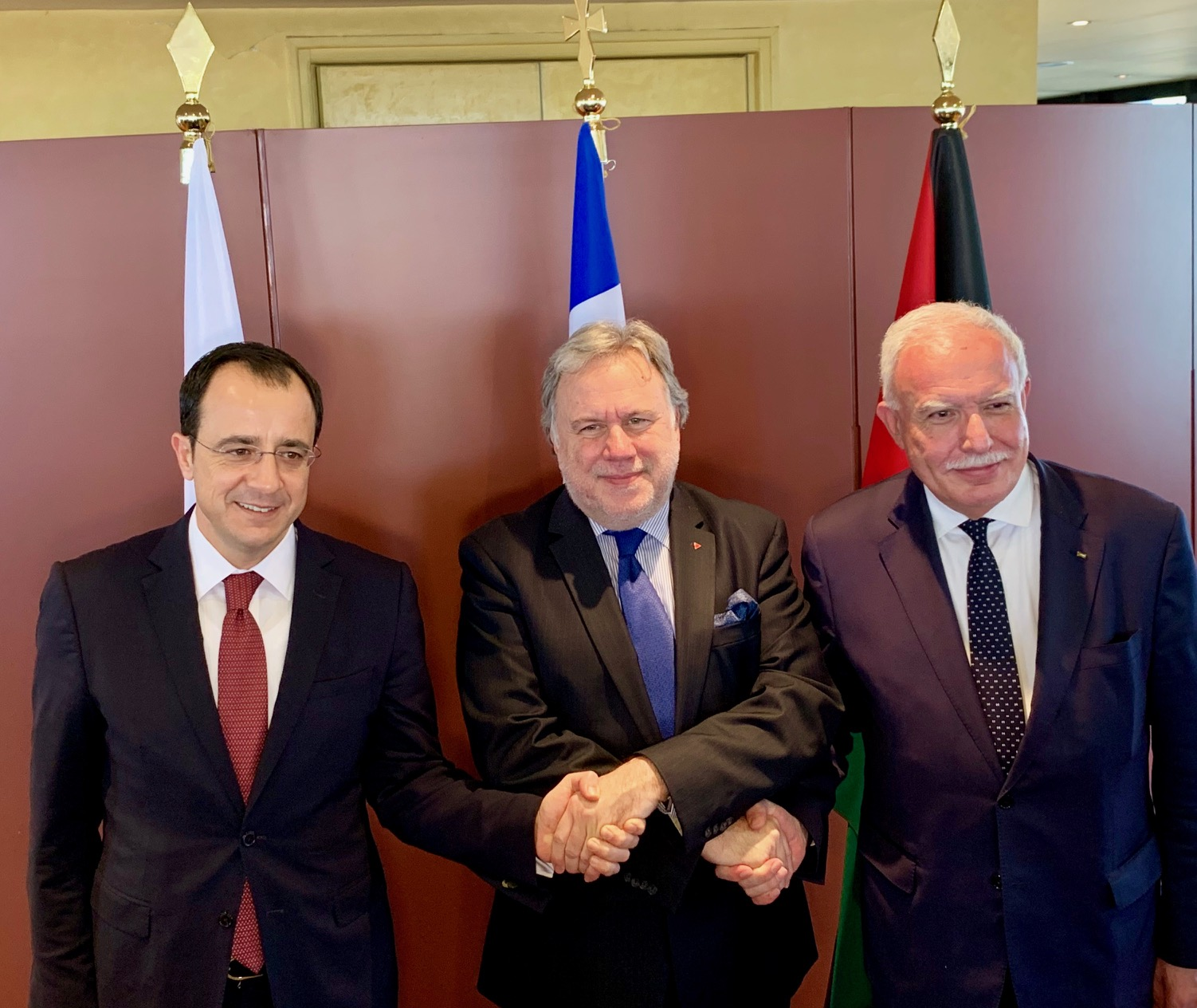 Joint communiqué issued after the Trilateral Greece Cyprus Palestine