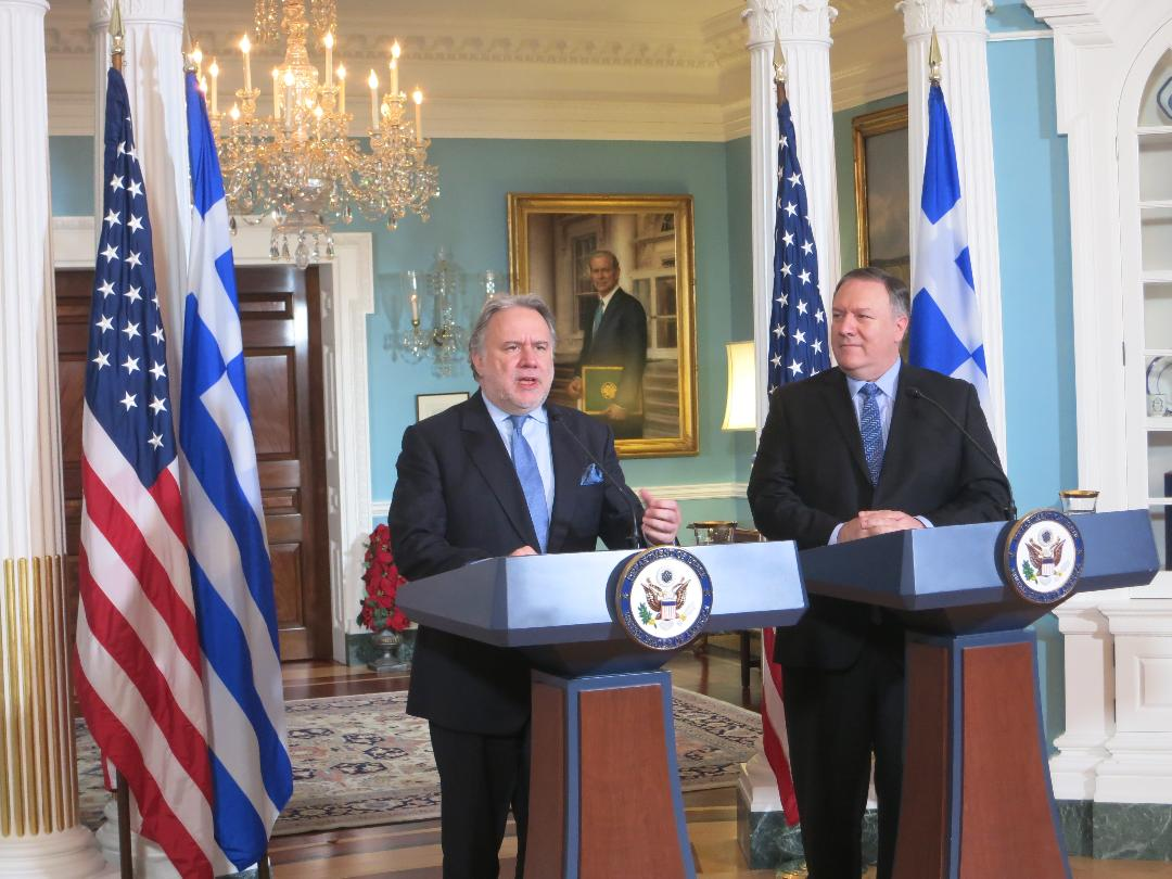 Pompeo underscored Greece's importance as a pillar of stability in the Eastern Mediterranean and Balkans.