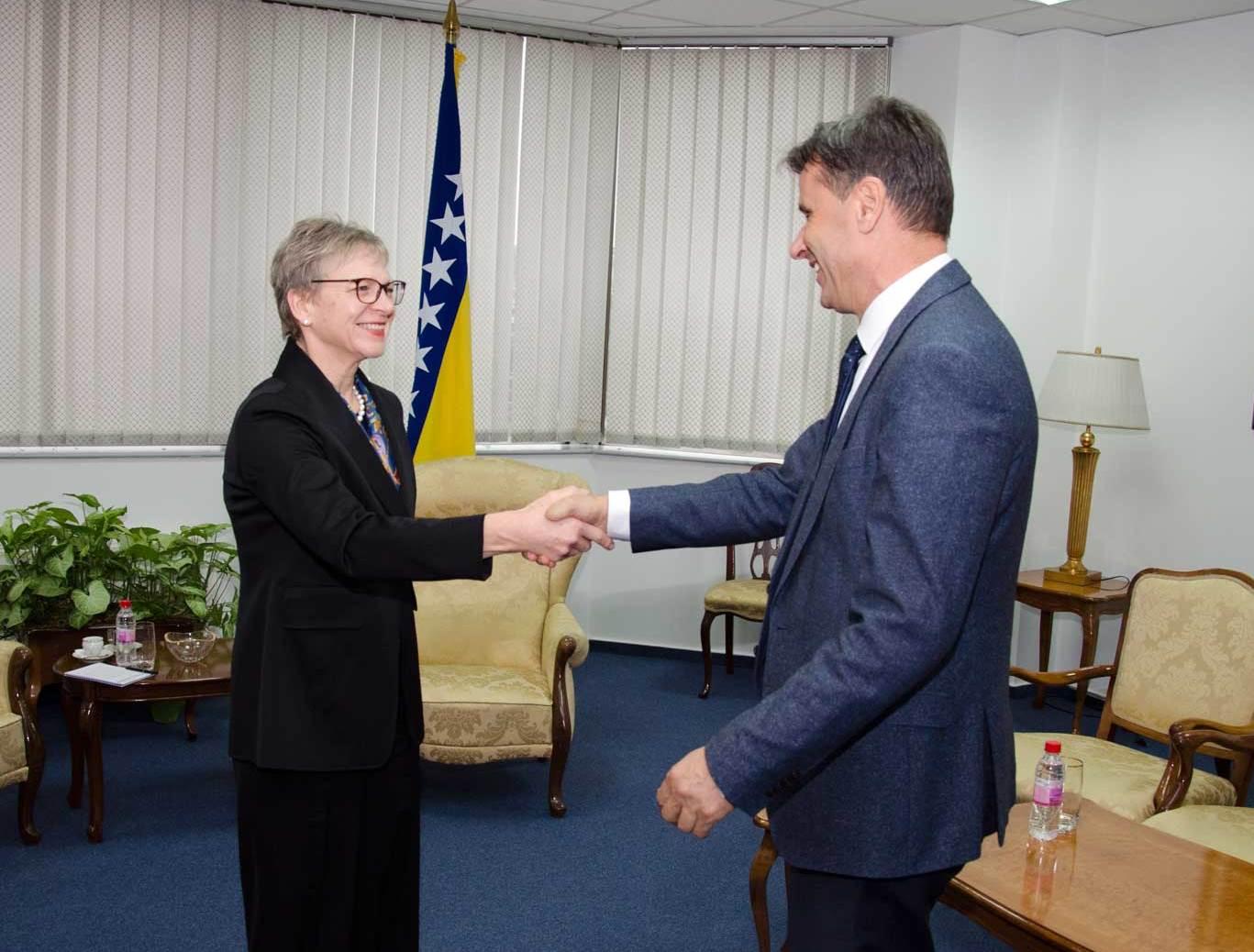 Novalić and Ruhe discussed EBRD projects in F BiH