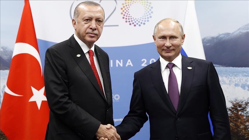 Erdogan, Putin discuss energy issues and Syria
