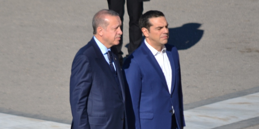 Alexis Tsipras on an official one-day visit to Istanbul, February 5