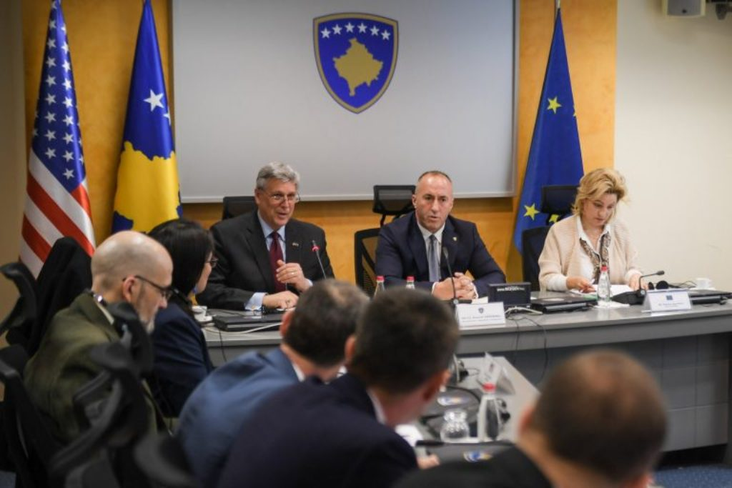 Kosovo's Haradinaj meets with foreign ambassadors to discuss the fight against corruption
