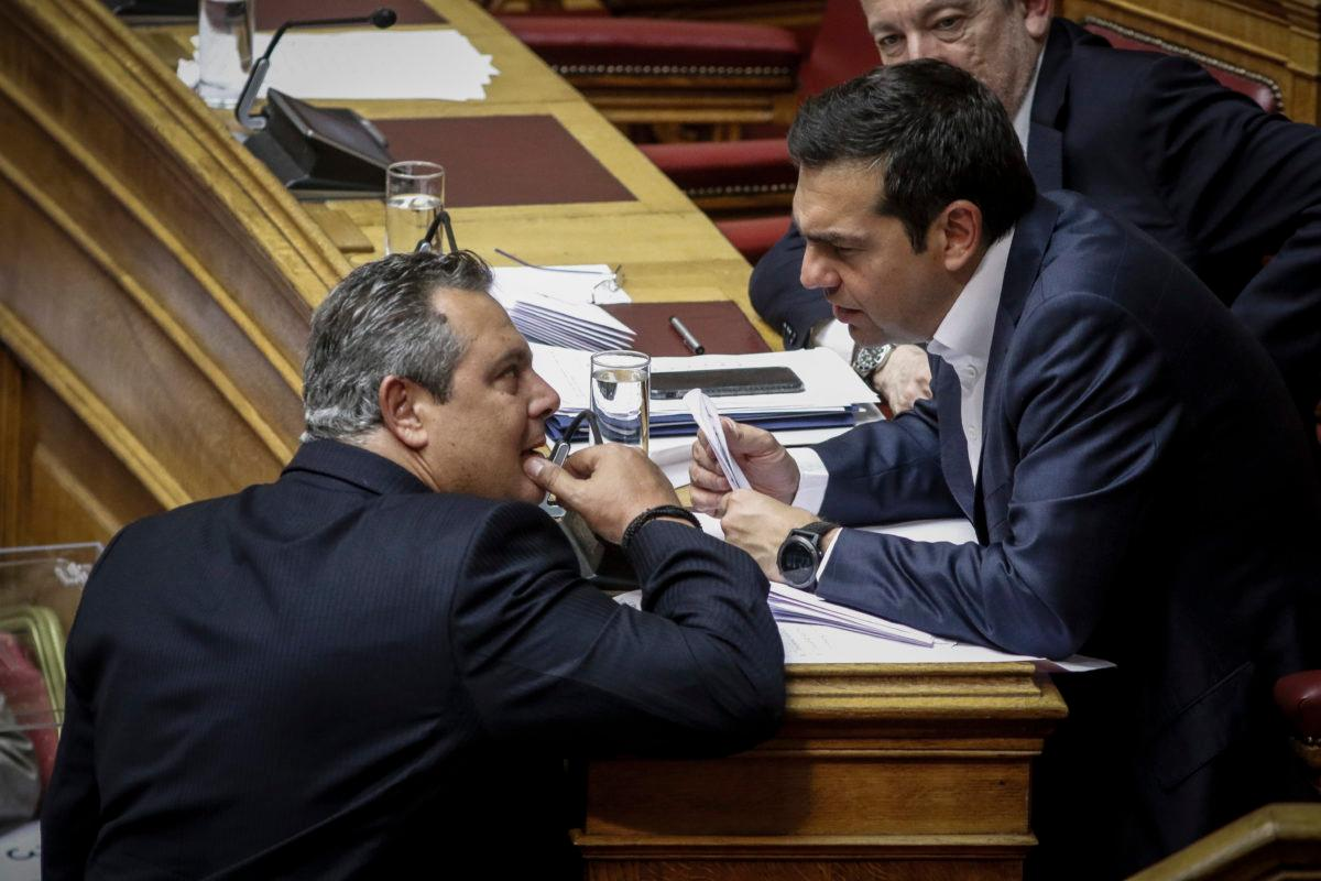 Tsipras will ask for a vote of confidence if Kammenos leaves the coalition